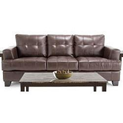 ... 7 Piece Living Room Package: Leather Sofa And Leather Loveseat, 3  Tables And 2 ...
