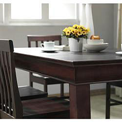 Espresso 7-piece Wood Dining Set - Thumbnail 1