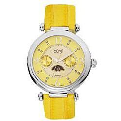 Burgi Women's Diamond Swiss Quartz Strap Watch
