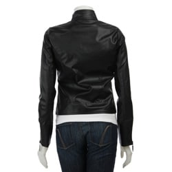 Ashley Women's Faux Leather Zip-up Jacket - Thumbnail 1