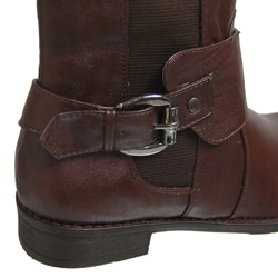 Bamboo by Journee Women's Side Accent Buckle Boots - Thumbnail 1