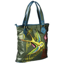 Shop Ed Hardy  Arielle  Skull and Bird Tote - Free Shipping Today ... 93f61c867a314