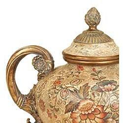 Majestic Collection Floral Design Porcelain Vase - Thumbnail 1