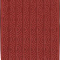 Handcrafted Red Wool Marabela Rug (8' x 11') - Thumbnail 1