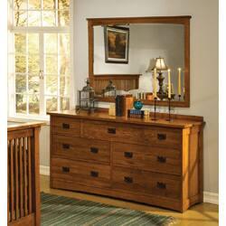 Mission Solid Oak Dresser And