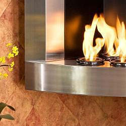 Thumbnail Stainless Steel Corner Wall Mount Fireplace