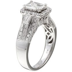 Unending Love 14k Gold 'Emerillion' 1 1/2ct TDW Mixed Cut Diamond Ring (I-J, I1-I2) - Thumbnail 1
