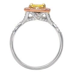 14k Gold 1 1/4ct TDW Yellow Diamond Ring (G-H, SI1-SI2) (Size 7) - Thumbnail 1