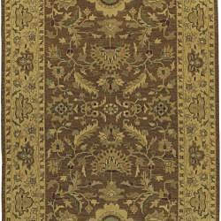 Hand-knotted Sangli New Zealand Wool Rug (6' x 9') - Thumbnail 1