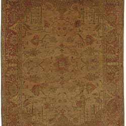 Set of 2 Hand-knotted Gold Wool Istanbul Rugs (2' x 3')