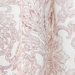 Printed Linen Beige/ Rust Curtain Panel (India) - Thumbnail 1