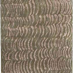 Hand-knotted Royal Green NZ Abstract Design Wool Rug (8' x 11') - Thumbnail 1