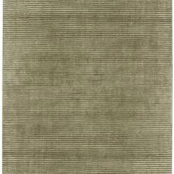 Hand-loomed Solid Beige Casual Salvador Wool Rug (8' x 11')