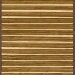 Hand-woven Brown Natural Fiber Rayon from Bamboo Rug (5' x 8') - Thumbnail 1