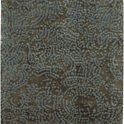 Hand-knotted Abstract Design Wool Rug (2 '6 x 10') - Thumbnail 1