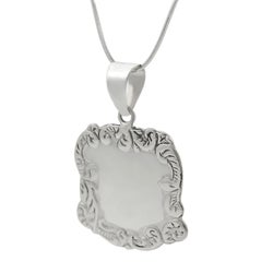Sterling Silver Luggage Tag Necklace - Thumbnail 1