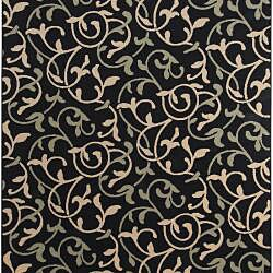 Cafe Collection Floral Indoor/Outdoor Rug (8'9 x 12'9) - Thumbnail 1