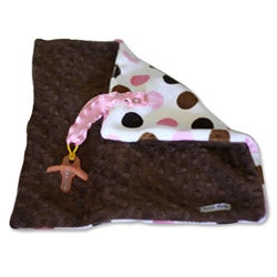 Sweet Ruby 13x13-inch Binky Blanket in Strawberry Chocolate Chip