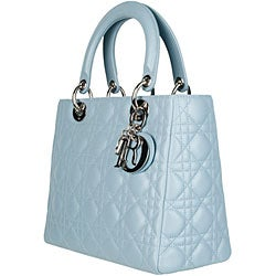 Lady Dior Baby Blue Quilted Lambskin Tote