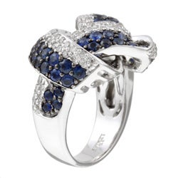 Encore by Le Vian 14k Gold Sapphire and 7/8ct TDW Diamond Ring (H-I, I1) (Size 7) - Thumbnail 1