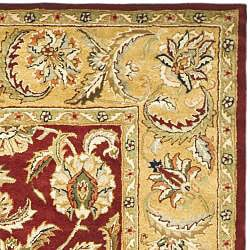 Safavieh Handmade Classic Red/ Gold Wool Rug (6' x 9') - Thumbnail 1