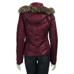 Steve Madden Women's Hooded Puffer Jacket