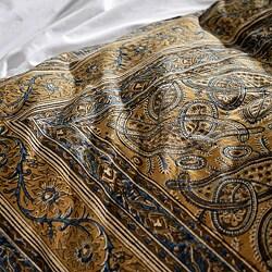 Cotton Kalamkari Olive 3-piece Duvet Cover Set (India) - Thumbnail 1