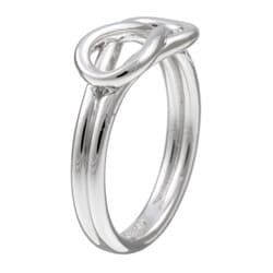 Platifina Platinum over Silver Love Knot Ring