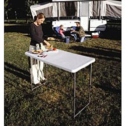 Lifetime 4-foot Adjustable Height Fold-in-half Table - Thumbnail 1