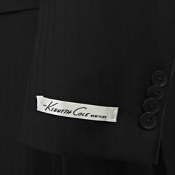 Kenneth Cole New York Slim Fit Collection Men's Black Wool Suit - Thumbnail 1