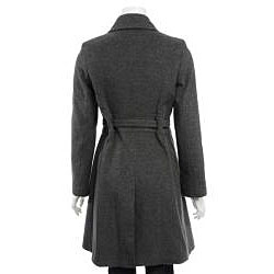Via Spiga Women's Wool Belted Button-front Coat - Thumbnail 1