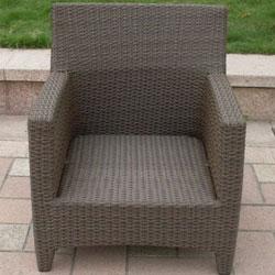 Clara Woven Wicker Outdoor Lounge Chair - Thumbnail 1