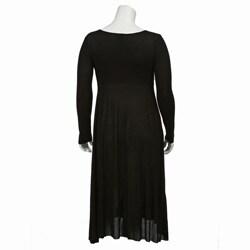 C.enne.V Women's Plus Size Mid-calf Length Dress