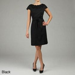 CeCe's of New York Women's Ruffle Neck Dress - Thumbnail 1