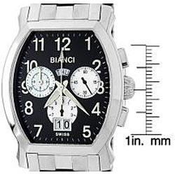 Roberto Bianci Men's 'Eleganza' Steel Watch - Thumbnail 1