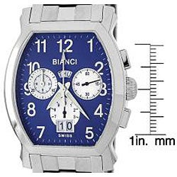 Roberto Bianci Men's 'Eleganza' Steel Watch - Thumbnail 1