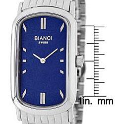Roberto Bianci Men's Oblong Stainless Steel Watch - Thumbnail 1