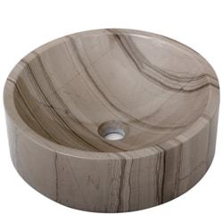 Geyser Athens Grey Marble Stone Column Vanity Sink - Thumbnail 1