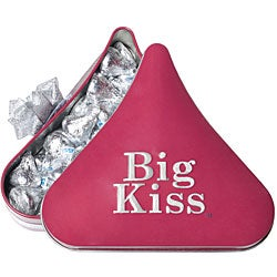 Sterling Silver HERSHEY'S KISSES Necklace and Chocolate Tin