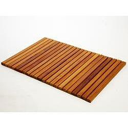 Rectangle Teak Wood String Poolmat - Thumbnail 1