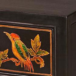Hand-painted 'Tropical Bird' End Table (China)