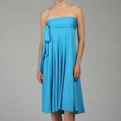 Lapis Women's Convertible Knit Tie Waist Skirt - Thumbnail 1