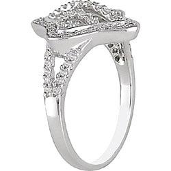 10k White Gold 1/3ct TDW Diamond  Ring (H-I, I2-I3) - Thumbnail 1