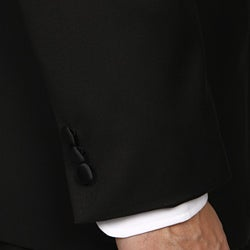 Caravelli Italy Men's Black Three Button Tuxedo FINAL SALE - Thumbnail 1