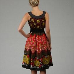 Thumbnail 2, Studio West Women's Sleeveless Printed Dress. Changes active main hero.