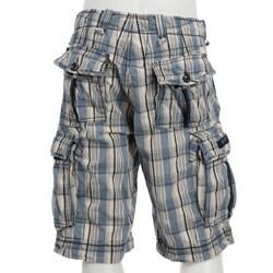 Jet Lag Men's 'Otto' Plaid Cargo Shorts - Free Shipping Today ...