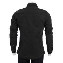 X-ray Men's Black Military Shirt