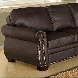 Bentley Italian Leather Sectional Sofa