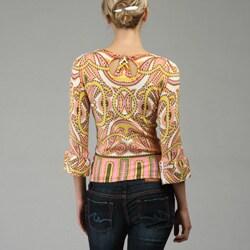 Escio Women's Paisley Print Sweater