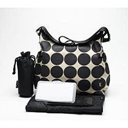 OiOi Sand Dot Hobo Diaper Bag